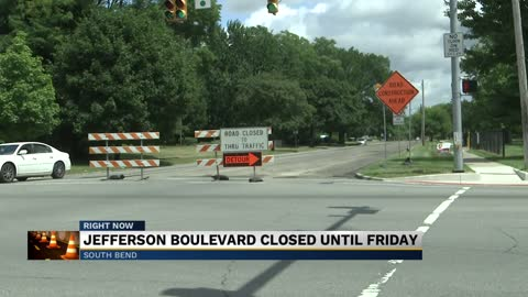 Jefferson Boulevard in South Bend closed down for resurfacing