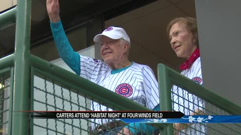 Former President Jimmy Carter and wife Rosalynn visit South Bend Cubs