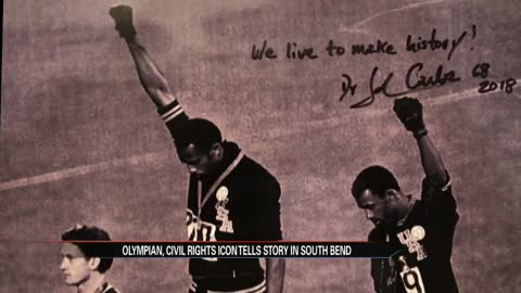 John Carlos visits South Bend community
