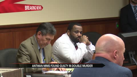 Jury convicts Antwan Mims of 2 counts of first degree murder