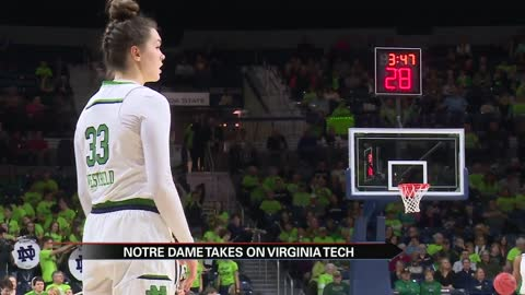Kat Westbeld reaches 1,000 points as Irish roll past Virginia Tech