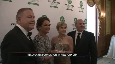 Brian and Paqui Kelly travel to New York for their Kelly Cares Foundation