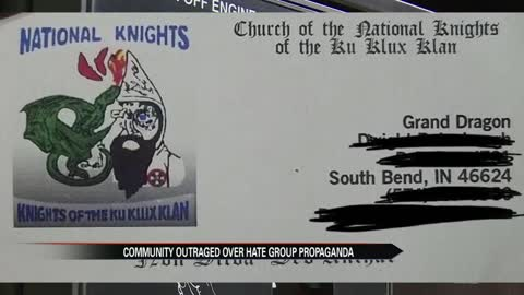 KKK propaganda distributed in South Bend