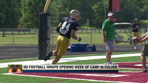 Kmet's injury tempers excitement as Irish wrap week in Culver