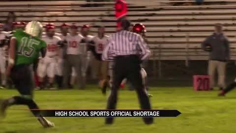 Lack of officials in high school sports