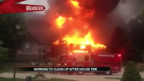 Large fire destroys local Pastor's home just west of South Bend