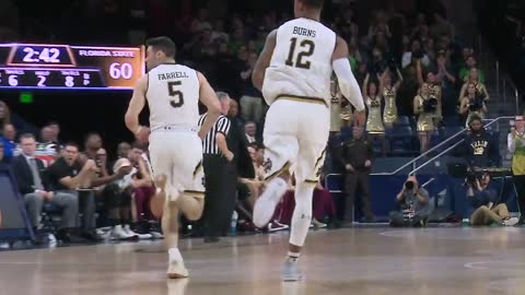 Late burst helps Notre Dame top Florida State on the hardwood