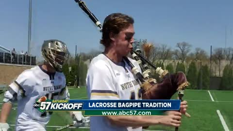 Add Irish Lacrosse Bagpipes to list of Notre Dame traditions