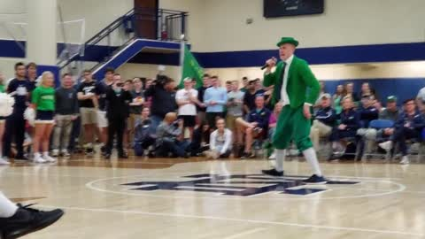 Notre Dame holds leprechaun tryouts