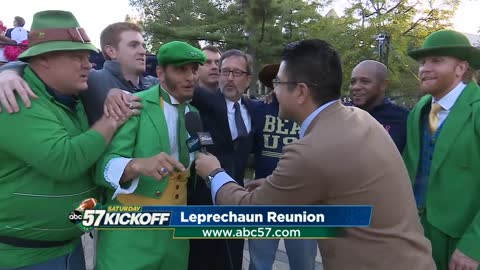 Notre Dame leprechauns reunite ahead of USC match up