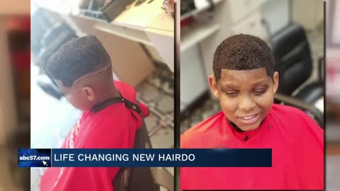 South Bend barber helps young burn victim with transformative makeover