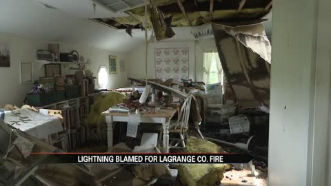 Lightning bolt strikes home in LaGrange County, damages house