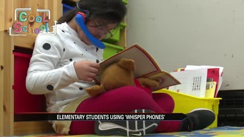 Lincoln School uses new whisper phones to keep reading fun