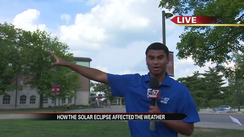 Live in Carbondale: How the solar eclipse affected the weather