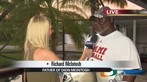 live in miami saturdays game a battle of the mcintoshes