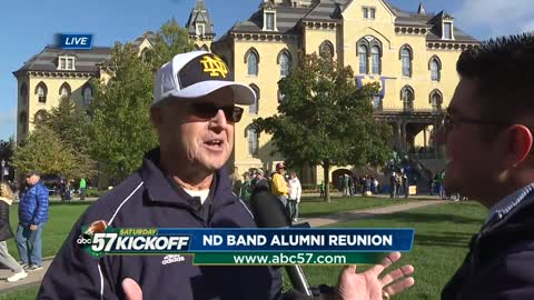 Hundreds return for Notre Dame Marching Band alumni reunion