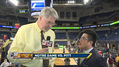Live with Mike Gminski: Notre Dame vs Pitt
