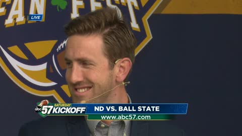 Live with Ryan O'Gara: Notre Dame vs. Ball State