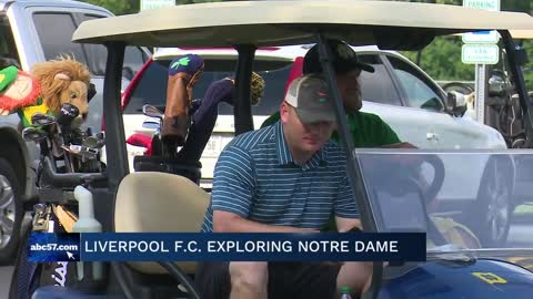 Liverpool FC explores Notre Dame ahead of exhibition