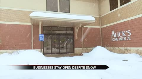 Local business stays open despite snow to save lives