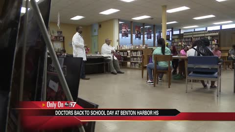 Local doctors visit Benton Harbor students to discuss career paths