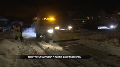 Michigan family clears snow, warms hearts of elderly