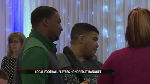 Local football stars honored for work on and off the field