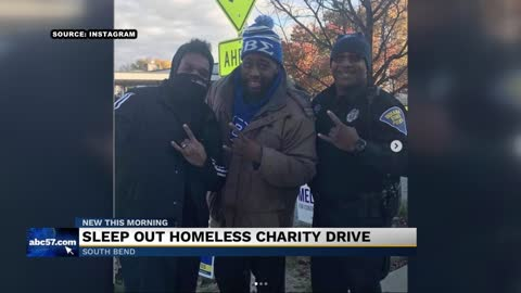 Local Fraternity hosts Sleep Out Homelessness Drive