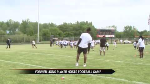 Local kids get tips from a former NFL player