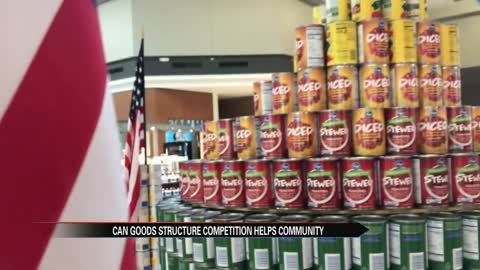 Local students use 'CANstruction' to help Michiana community