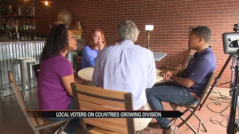 Local voters on country's growing division