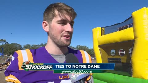 LSU quarterback has strong ties to Notre Dame, South Bend
