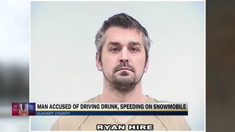 Man arrested for allegedly driving a snowmobile drunk