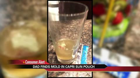 Man finds mold in child's Capri Sun