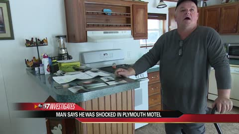 Man says he was electrified at a Plymouth motel, calls conditions unsafe