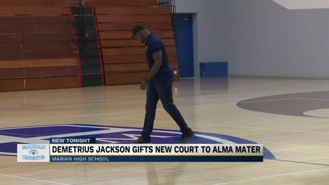 Marian HS and ND alum Demetrius Jackson gifts new court to alma mater