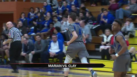 Marian boys use big second quarter to roll past Clay; other scores