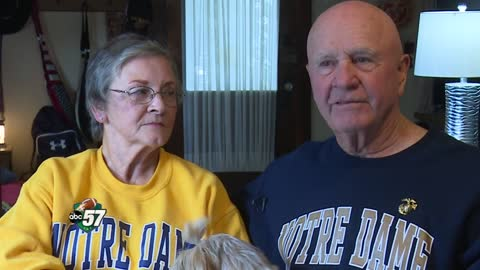 Married couple enjoying life together as Notre Dame ushers