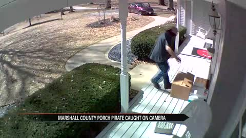 Marshall County porch pirate caught on camera