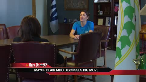 Mayor Blair Milo discusses big move