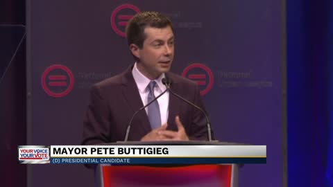 Mayor Buttigieg speaks at conference after releasing economic policy