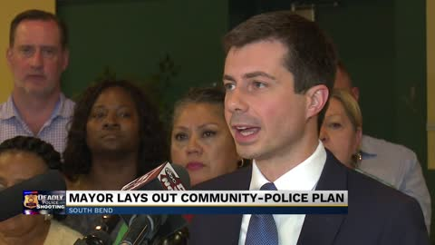 Mayor Buttigieg holds press conference about police-community relations