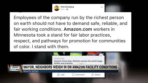 South Bend Mayor stance on Amazon protests in Minnesota raising...