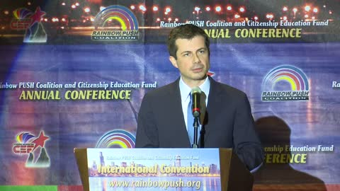 Mayor Buttigieg delivers keynote address at Rainbow PUSH Coalition breakfast