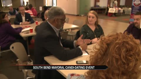 South Bend voters go speed dating with mayoral candidates