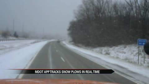 MDOT tracks snow plows in real time