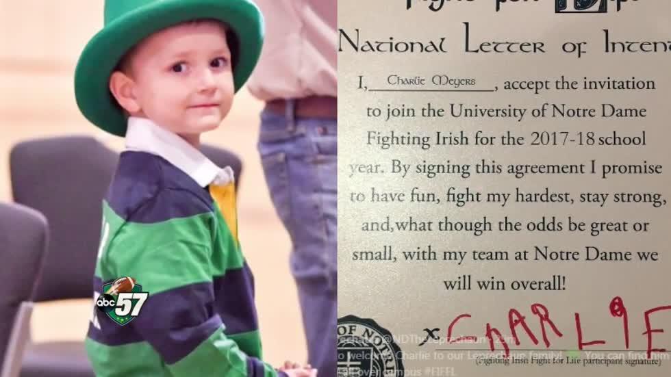 0c702e95b Meet Charlie - Notre Dame's smallest Leprechaun