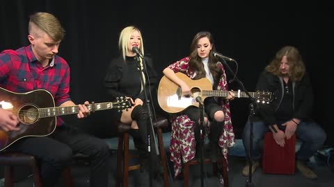 Live in the studio this morning Nashville musical duo Megan and Liz