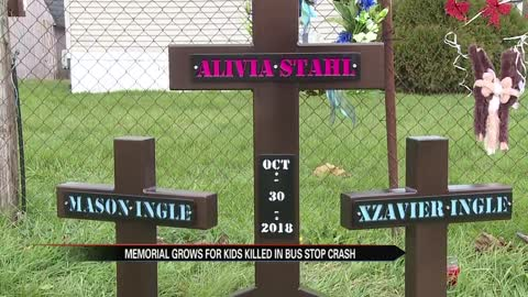 Memorial for three siblings killed continues to grow