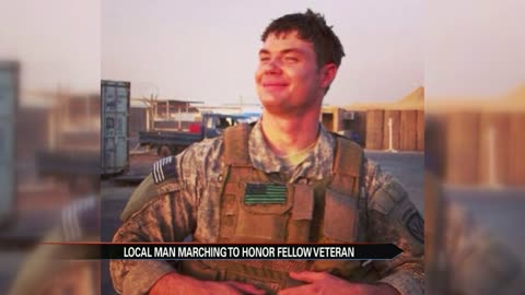 Local veteran marches 22 miles for veteran suicide awareness